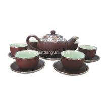 Bộ ấm pha trà Phúc Lộc Thọ - bọc đồng 0.4L