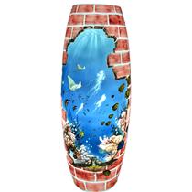 Đèn gốm BATO trang trí để bàn vẽ đại dương - cao 62cm