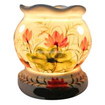 Đèn xông tinh dầu ( vẽ sen , dáng đèn trứng )