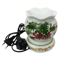 Đèn xông tinh dầu (hoa hồng , dáng đèn trứng)