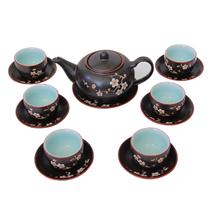 Bộ ấm chén pha trà - Hàng khử - Hoa mai trắng