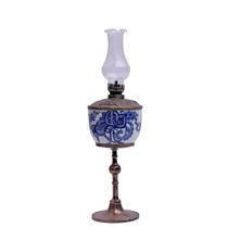 Đèn dầu thờ vẽ Mai Thọ - cao 40cm