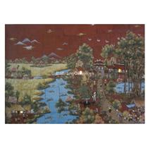 Tranh gốm ghép cảnh cây Đa cổng Làng
