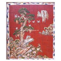 Tranh gốm ghép cảnh cây Tùng