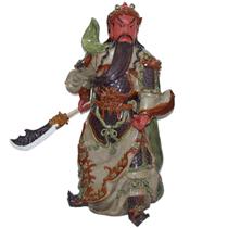 Tượng Quan Công mặt hồng - Men Rạn - Cao 90cm