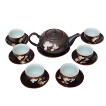 Bộ ấm chén pha trà - Hàng khử - Hoa sen